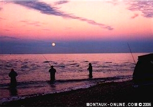 Surfcasting near Montauk Lighthouse